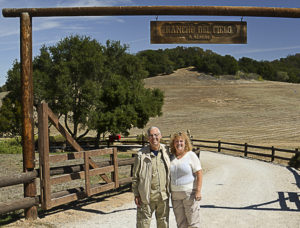 Henry and Carol at Rancho del Cielo
