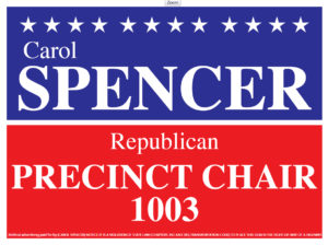 Carol Spencer, Republican Precinct Chair, Bastrop Texas, Precinct 1003
